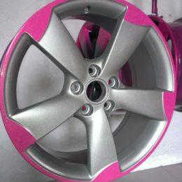 Металлик 9007 + розовый глянец под перламутровым лаком